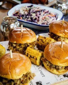Popular summer foods on table
